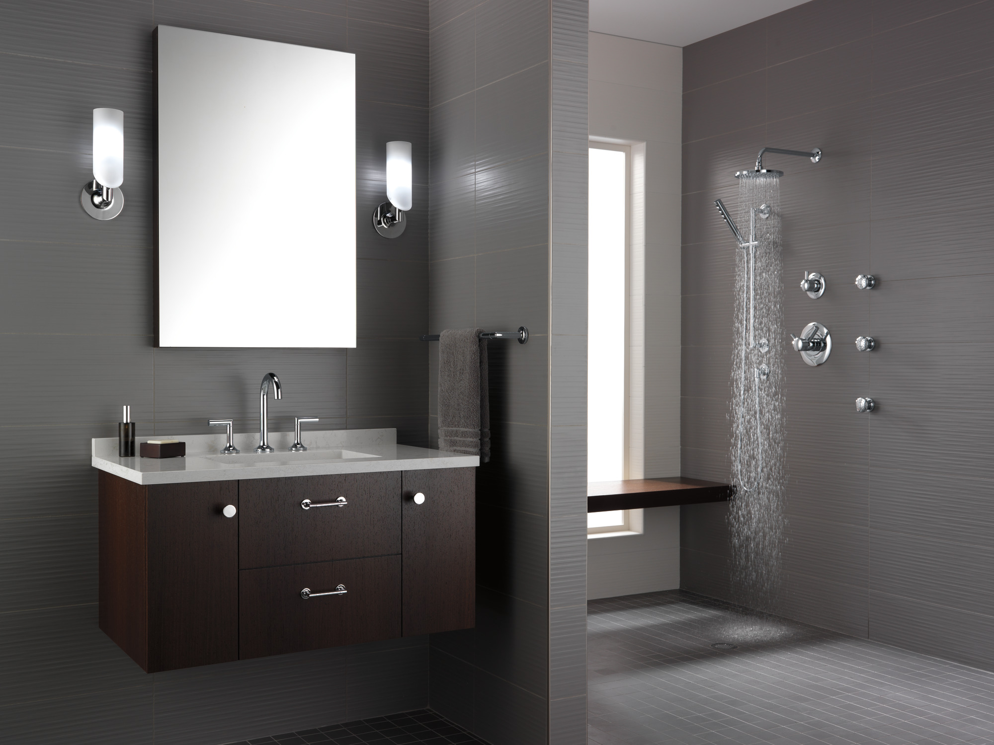 Bathrooms can lead design trends for the entire remodel for Bathroom remodeling leads